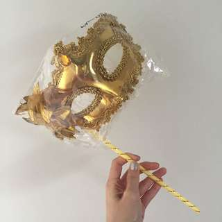 Brand New Party/Masquerade Mask In Gold