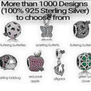 Over 1000 Designs (925 Sterling Silver Charms) To Choose From, Compatible With Pandora, T08