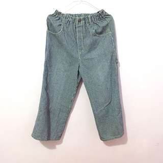 Stripe list denim jeans cullote kulot cullotes