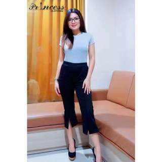 STEVICINUS PANTS idr 89.000 bahan wedges scuba pinggang ngaret p 74 warna : navy, brown, black