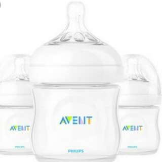mollie&mommy avent 4oz natural feeding bottles