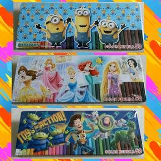 50 pieces colour pencils set