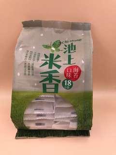 台灣直送 池上米香 海苔口味 18小袋共180g