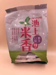 台灣直送 池上米香 紫米口味 18小袋共180g