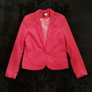 H&M Pink Coat/Blazer (Medium)