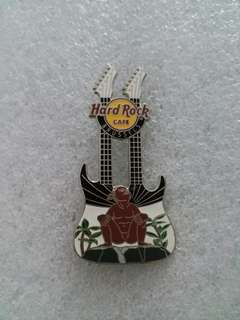 Hard Rock Cafe Pins ~ BRUSSELS HOT & RARE 2013 JEANNEKE PIS DOUBLE~NECK GUITAR PIN!