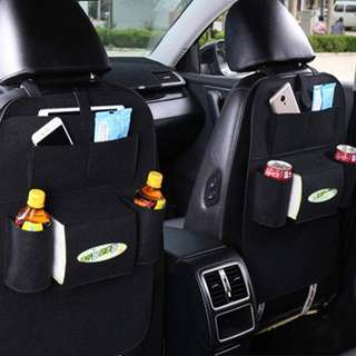 Multi-Purpose Car Back Seat Organizer - Available in black ×1