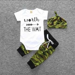 BN 3pc 0-6m Worth the Wait Baby Set