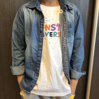 Zara男童牛仔襯衫110cm