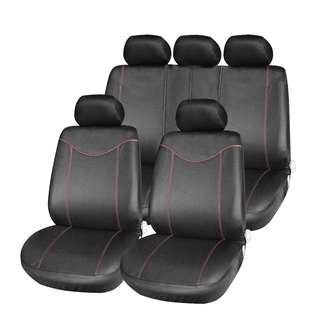 💯 T21638 11pcs Car Low-back Seat Cover Set Anti-Dust Auto Cushion Protector