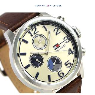 Tommy Hilfiger Men's Brown Leather Casual Watch