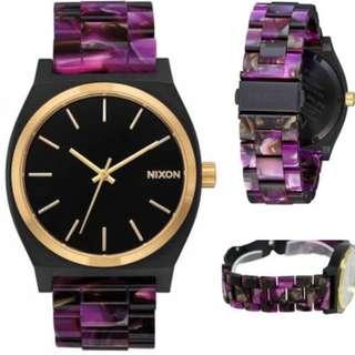 Nixon Time Teller Acetate Multi Color Watch