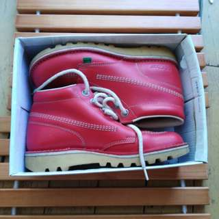 Red Leather Kickers