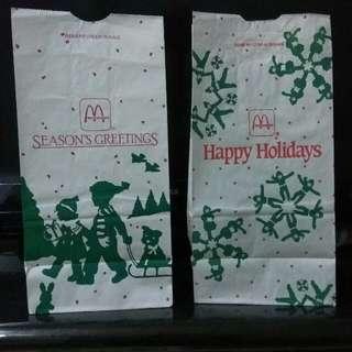 MacDonald Paper Bag 1987 & 1988 麥當勞纸袋