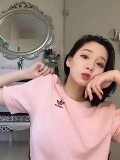 (😍秒殺5件) 斷貨Adidas Originals Ornamental Block Tee 情侶款T #Pink
