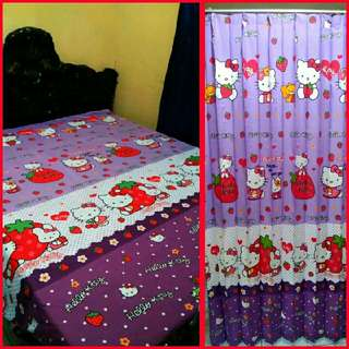 SET SPREI HELLO KITTY (120*200) + GORDEN