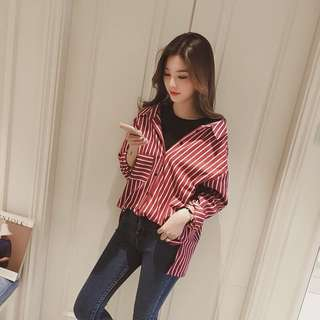 Ulzzang striped shirt