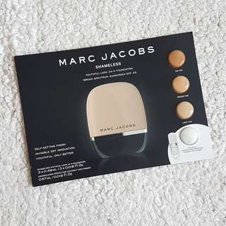 BN MARC JACOBS BEAUTY SHAMELESS YOUTHFUL-LOOK 24HOUR FOUNDATION SAMPLE