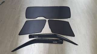 Hiace visor set - full