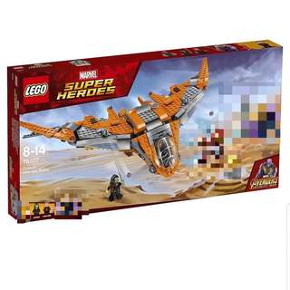 Lego 76107 Avengers 3 飛機連Star Lord & Gamora 不連 ironman & Thanos