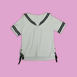 Sailor/ School Girl Top with Side Laces