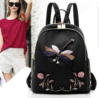 """[PO] Embroidered """"Firefly"""" Soft Backpack"""