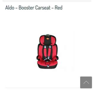 Aldo - Booster Carseat - Red