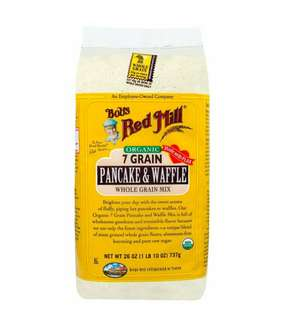 Bob's Red Mill, Organic, 7 Grain Pancake & Waffle Whole Grain Mix, 26 oz (737 g)