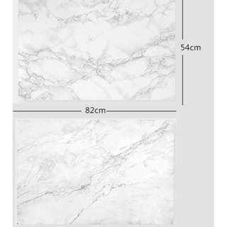 Faux Marble Background Paper Food Photography [IN STOCK]
