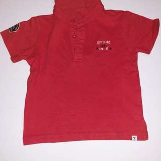 Authentic guess red tshirt shirt top for 2 year old boys