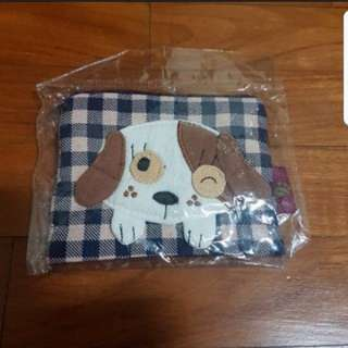 In Stock Dog Design Tissue And Coin Card Pouch