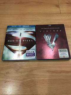 Blu-ray DVD Dis (Man of Steel)&(VikingS)