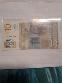 Uang 10 Serbia