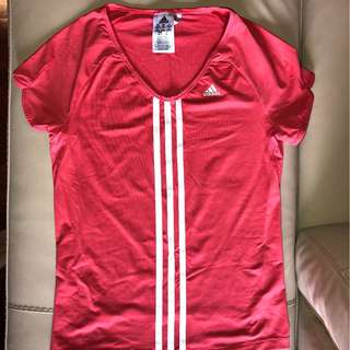 Adidas XS Coral Climalite Run Training Top