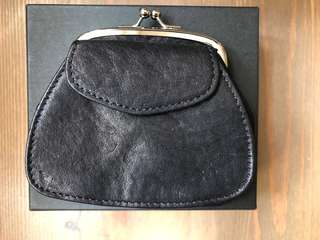 Y's Yohji Yamamoto Black Leather Coin Purse