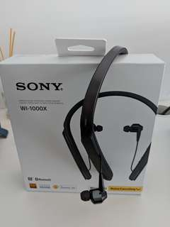 Sony WI-1000x noise cancellinf neckband