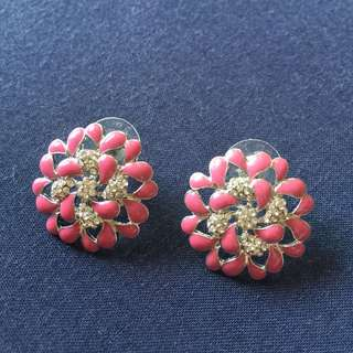 Classic earrings - Carnation Pink