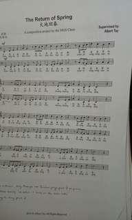 Choir score