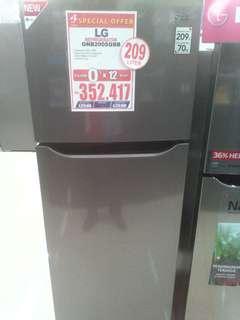 Cicilan kulkas LG 2 pintu tanpa kartu kredit proses cepat 3 menit promo 0% 6 bulan