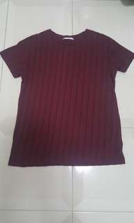 Red vertical stripes Top