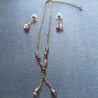 1 Set - Classic earrings & necklace