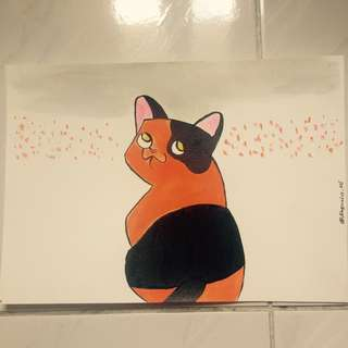 Cat original draw