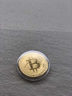 Bitcoin Gold Souvenir Coin Encased