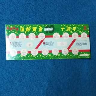 地下鐵路十週年1989遊戲卡