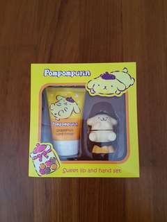 Pompompurin sweet lip and hand set