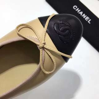 Chanel Ballerina Flats (Beige)