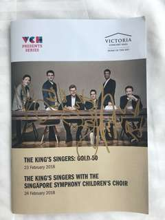 The Kings Singers - autographed programme