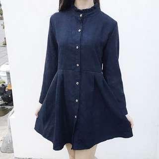 🚚 日系棉麻長袖洋裝