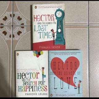 1) Hector and the search for happiness  2) Hector and the secrets of love  3) Hector and the search for lost time   All by author Francois Lelord