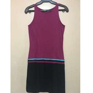 Preloved Plains and Prints Dress